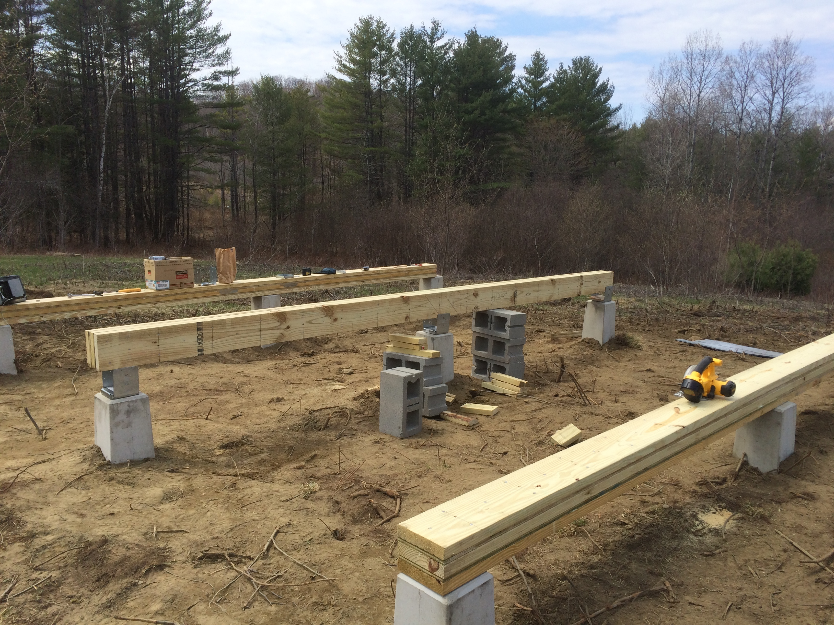Concrete post and beam foundation pictures to pin on for How to build a post and pier foundation